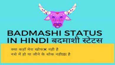 Photo of Badmashi Status in Hindi || बदमाशी स्टेटस